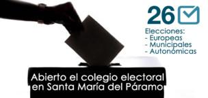 26m2019: Abierto el colegio electoral