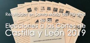 Resultados de las Elecciones a las Cortes de CyL 2019 en Santa María del Páramo