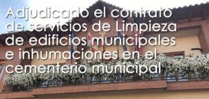 Adjudicado el contrato de servicios de Limpieza de edificios municipales e inhumaciones en el cementerio municipal