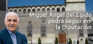 Miguel Ángel del Egido podrá seguir en la Diputación