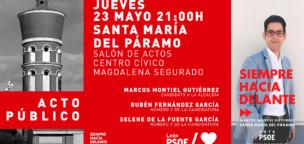 Segundo mitin del PSOE en Santa María del Páramo