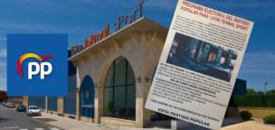 Publicidad electoral del PP sobre el balneario