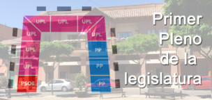 Primer pleno de la legislatura 2019-23