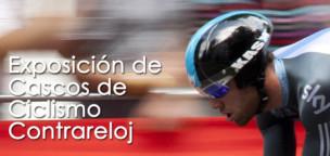 Exposición Cascos de Ciclismo de Contrareloj