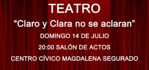 """Teatro: """"Claro y Clara no se aclaran"""""""