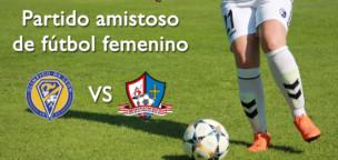 Partido amistoso de fútbol femenino