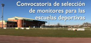 Convocatoria de selección de monitores para las escuelas deportivas
