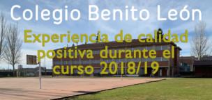 Colegio Benito León, experiencia de calidad 2018/19
