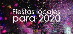 Fiestas locales para 2020