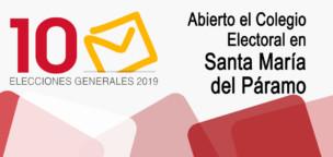 Elecciones 10N2019: Abierto el Colegio Electoral de Santa María del Páramo