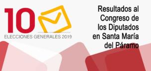 Elecciones 10N2019: resultados al Congreso en Santa María del Páramo