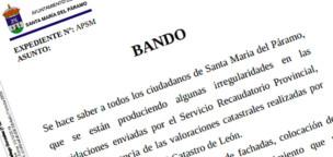 Bando sobre las irregularidades del Servicio Recaudatorio Provincial