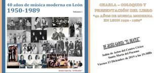 Charla, coloquio y presentación del libro 40 años de música moderna en León