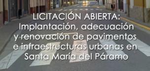 Abierto el plazo de licitación para la renovación de pavimentos