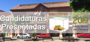 Municipales 2019: Candidaturas presentadas