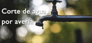 Corte de agua por avería en los depósitos
