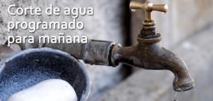 Corte programado de agua mañana 20 de enero
