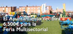 El Ayuntamiento recibirá 6.500€para la Feria Multisectorial