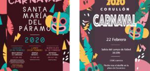 Santa María del Páramo y Corullón, similar cartel de carnaval 2020