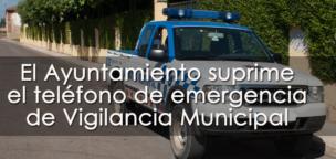 El Ayuntamiento suprime el teléfono de emergencia de Vigilancia Municipal en pleno estado de alerta