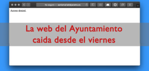 Caída la web del Ayuntamiento desde el viernes