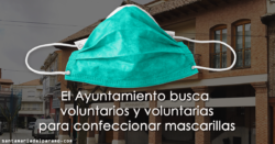El Ayuntamiento busca voluntarios y voluntarias para confeccionar mascarillas