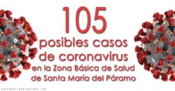105 posibles casos de coronavirus en la Zona Básica de Salud de Santa María del Páramo