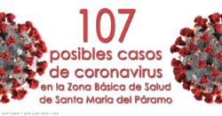 107 posibles casos de coronavirus en la Zona Básica de Salud de Santa María del Páramo