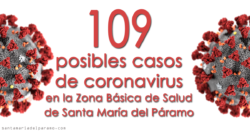 109 posibles casos de coronavirus en la Zona Básica de Salud de Santa María del Páramo