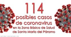 114 posibles casos de coronavirus en la Zona Básica de Salud de Santa María del Páramo