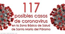 117 posibles casos de coronavirus en la Zona Básica de Salud de Santa María del Páramo
