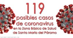 119 posibles casos de coronavirus en la Zona Básica de Salud de Santa María del Páramo