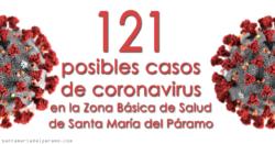121 posibles casos de coronavirus en la Zona Básica de Salud de Santa María del Páramo