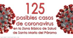 125 posibles casos de coronavirus en la Zona Básica de Salud de Santa María del Páramo