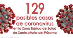 129 posibles casos de coronavirus en la Zona Básica de Salud de Santa María del Páramo