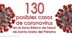130 posibles casos de coronavirus en la Zona Básica de Salud de Santa María del Páramo