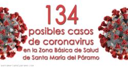 134 posibles casos de coronavirus en la Zona Básica de Salud de Santa María del Páramo