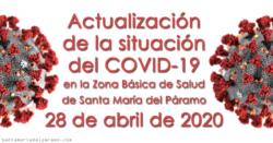 Actualización de la situación del COVID-19 en la Z.B.S. de Santa María del Páramo a 28.04.2020