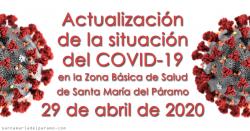 Actualización de la situación del COVID-19 en la Z.B.S. de Santa María del Páramo a 29.04.2020