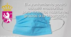 El Ayuntamiento podrá adquirir mascarillas para todos los habitantes gracias a la Diputación
