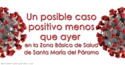 Un posible caso positivo menos que ayer en la Z.B.S. de Santa María del Páramo