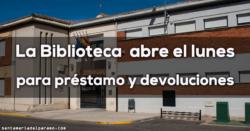La Biblioteca de Santa María abre el lunes para préstamo y devoluciones