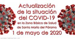 Actualización de la situación del COVID-19 en la Z.B.S. de Santa María del Páramo a 01.05.2020
