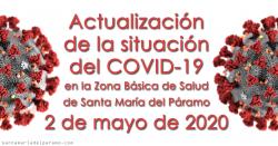 Actualización de la situación del COVID-19 en la Z.B.S. de Santa María del Páramo a 02.05.2020