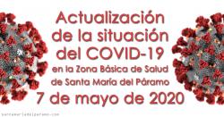 Actualización de la situación del COVID-19 en la Z.B.S. de Santa María del Páramo a 07.05.2020
