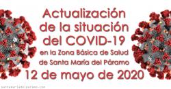 Actualización de la situación del COVID-19 en la Z.B.S. de Santa María del Páramo a 12.05.2020