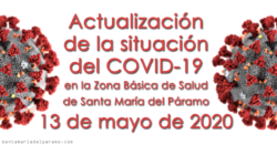 Actualización de la situación del COVID-19 en la Z.B.S. de Santa María del Páramo a 13.05.2020