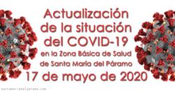 Actualización de la situación del COVID-19 en la Z.B.S. de Santa María del Páramo a 17.05.2020
