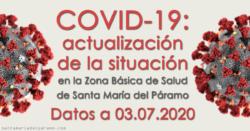 Actualización de la situación del COVID-19 en la Z.B.S. de Santa María del Páramo a 03.07.2020