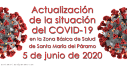 Actualización de la situación del COVID-19 en la Z.B.S. de Santa María del Páramo a 5.06.2020